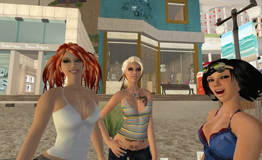 Second Life - happy avatars