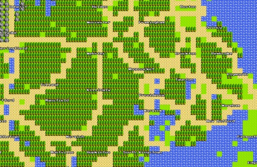 Admittedly, it all looks pretty much the same in Google Maps 8-Bit.