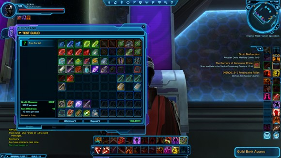 Guild bank: vaults interface