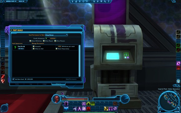 Guild bank: manage interface