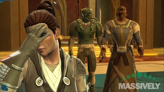 Star Wars: The Old Republic - facepalming Jedi