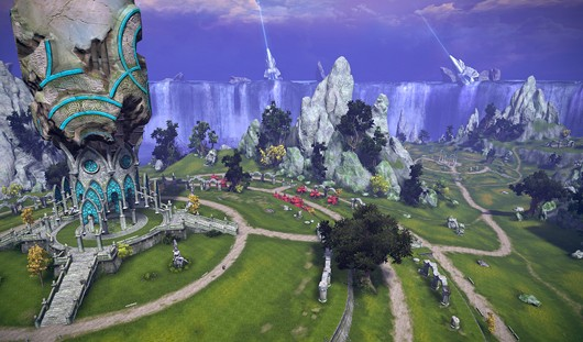 TERA - Island of Dawn aerial shot