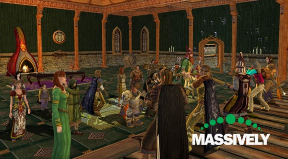 Lord of the Rings Online - The Lonely Mountain Band getting down