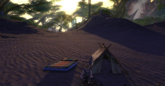rift tent and bedroll