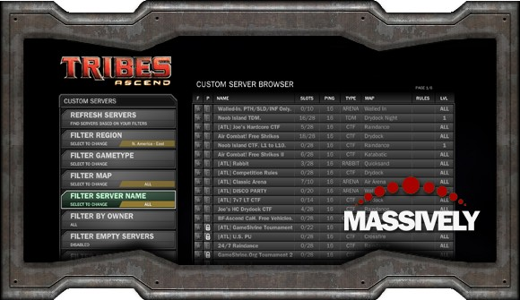 Tribes: Ascend - server browser
