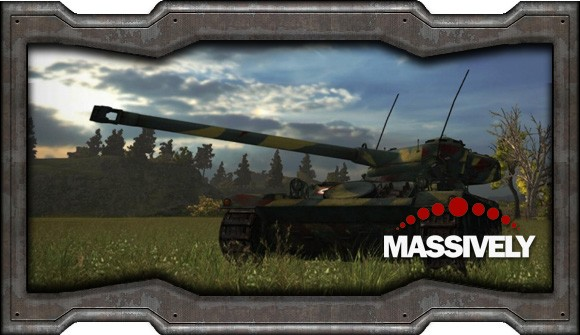 World of Tanks - French tank in a grassy field