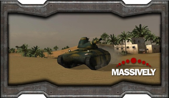World of Tanks - French tank in the desert