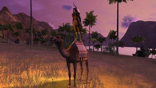Vanguard riding a camel