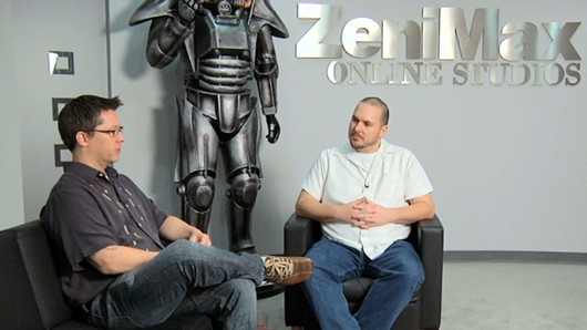 The Elder Scrolls Online - Creative director Paul Sage and some guy from Game Informer