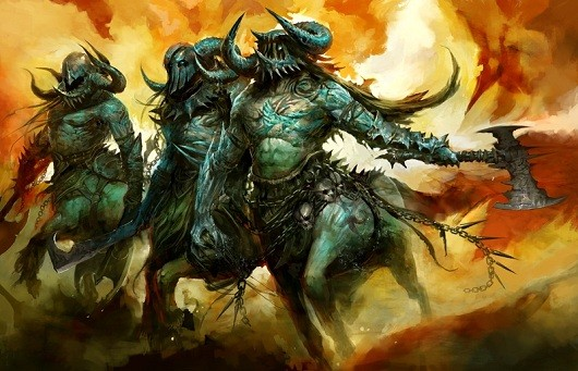 Guild Wars 2 concept art: Centaurs from hell