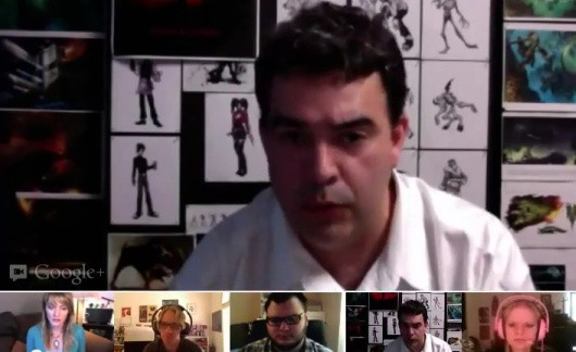 Google Plus hangout screenshot
