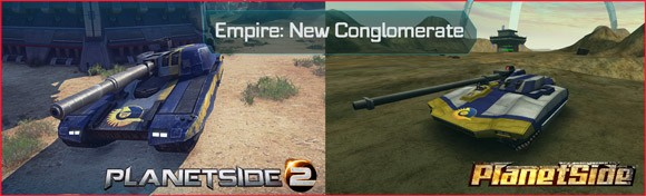 PlanetSide - New Conglomerate Vanguard before and after