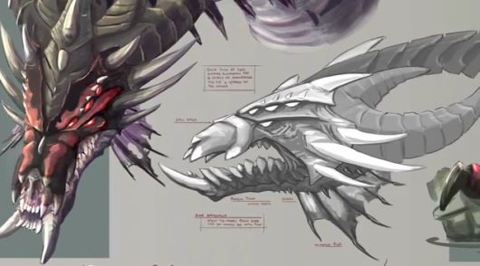 RuneScape -- Queen Black Dragon concept art