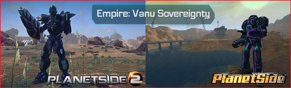 PlanetSide - Vanu MAX before and after