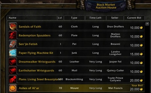 The Daily Grind Are black market auction houses a good idea