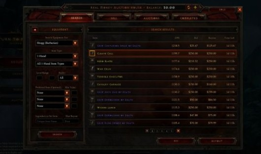 Diablo III pulls trigger on North America RMT auction house