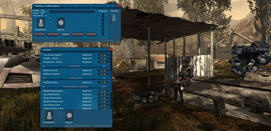 The Repopulation - crafting interface