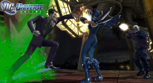 DC Universe Online - the Joker punching someone