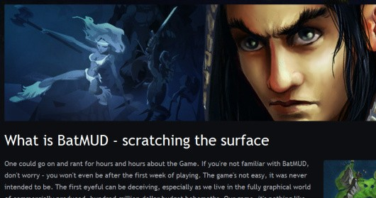 BatMUD website screenshot