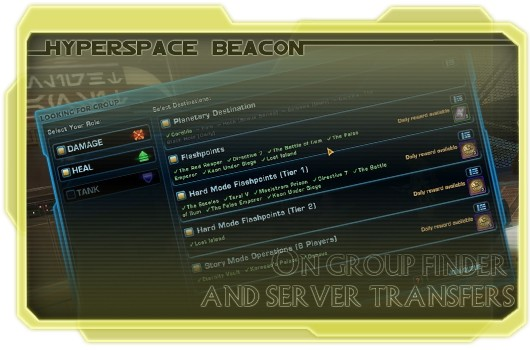 Hyperspace Beacon: On group finder and server transfers