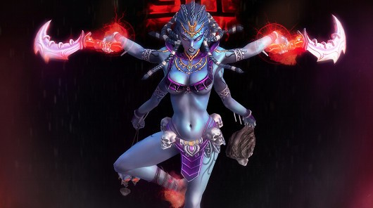 SMITE's depiction of Kali, Hindu goddess of destruction