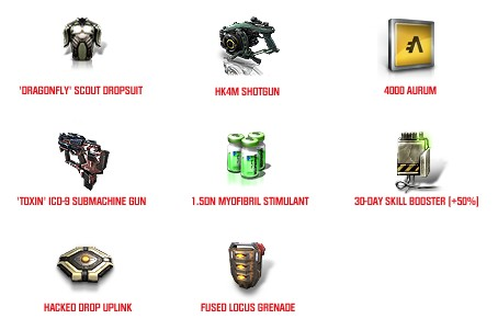 DUST 514 - Mercenary Pack icons