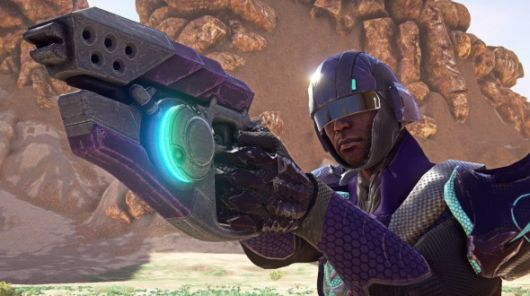 PlanetSide 2 - Vanu and his goofy purple armor
