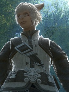 Male miqo'te look remarkably smug.  Which seems fitting.