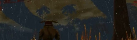 Ryzom screenshot of rain snow and lightning