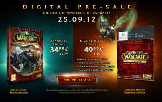 World of Warcraft Mists of Pandaria expansion releasing September 25th