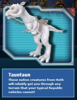 Clone Wars Adventures' Tauntaun
