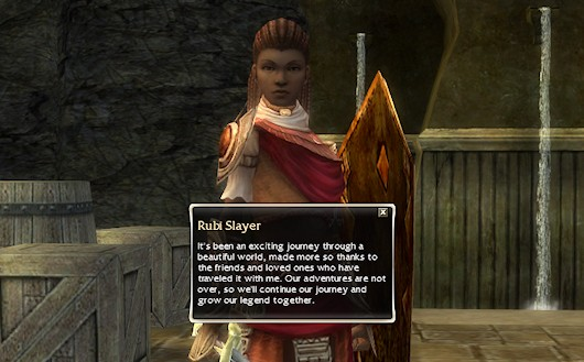 Does that mean a slayer of Rubis?  Maybe that's where she went.