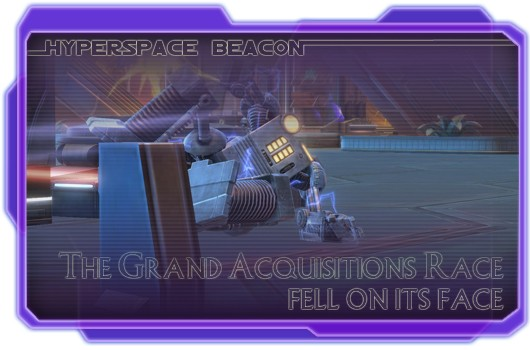 Hyperspace Beacon SWTOR's Grand Acquisitions Race fell on its face