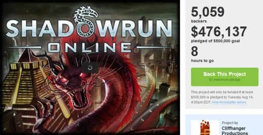 Shadowrun Online Kickstarter just shy of final goal with hours to go