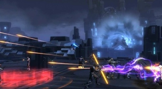 SWTOR demoing Ancient Hypergates warzone at Gamescom