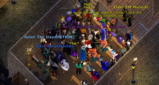 Ultima Online anniversary celebration screenshot