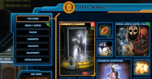 Star Wars The Old Republic launches the Cartel Market on the PTS