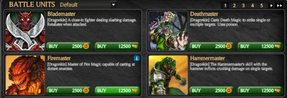 WarMage Battlegrounds cash-shop screenshot