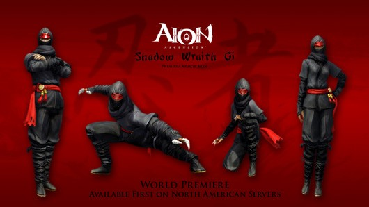 Ninja gear premiers in North American Aion