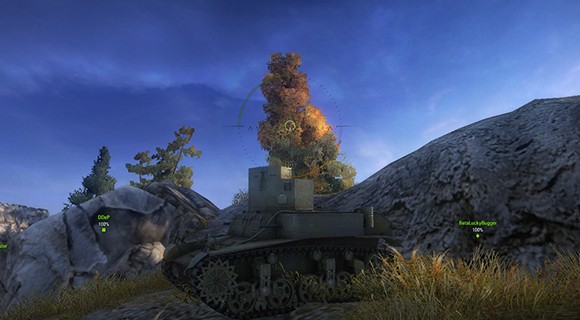 Driving in World of Tanks