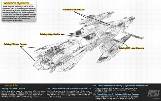Star Citizen cargo ship comes with a detachable fighter