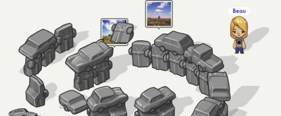Fleck screenshot of Carhenge