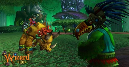 Dinosaurs are live in Wizard101's Azteca update