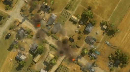 World of Tanks - town battle from above