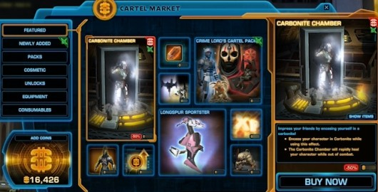 SWTOR fan site posts cartel market poll results