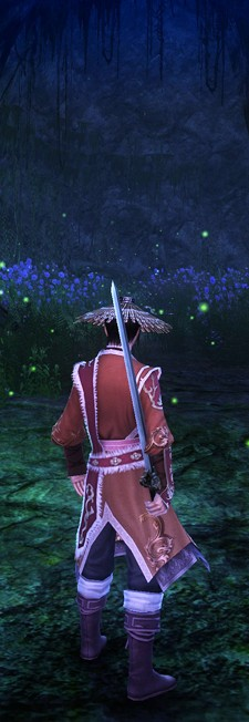Age of Wushu - cave with green sparkly things