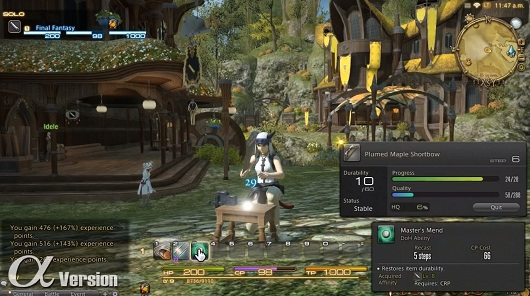 Get a sneak peek at FFXIV's crafting!