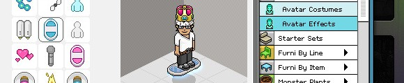 Habbo Hotel cash shop screenshot