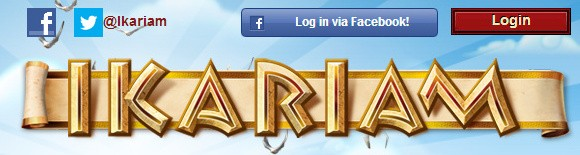 Ikariam login screenshot