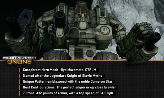 New MechWarrior Online hero mech
